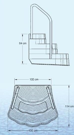 Escalier piscine oasis au meilleur prix sur for Colle pour pvc piscine