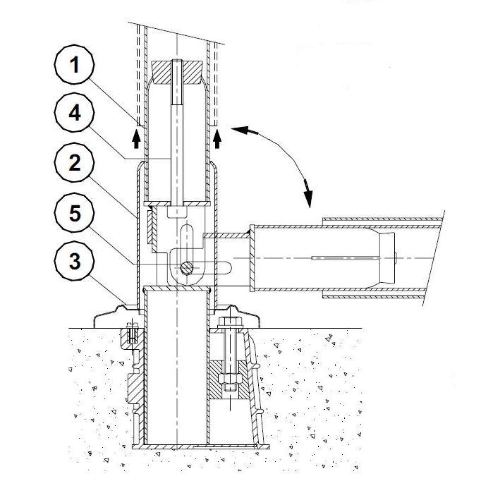 Articulation pour chelle inox l 39 unit jardin piscine for Articulation echelle piscine