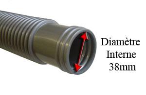 Tuyau flexible diam 38 entretien manches et tuyaux for Raccord tuyau piscine 38 50