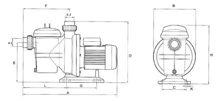 Ensemble de filtration piscine - pompe Kalia + filtre MFS20 - 10m3h