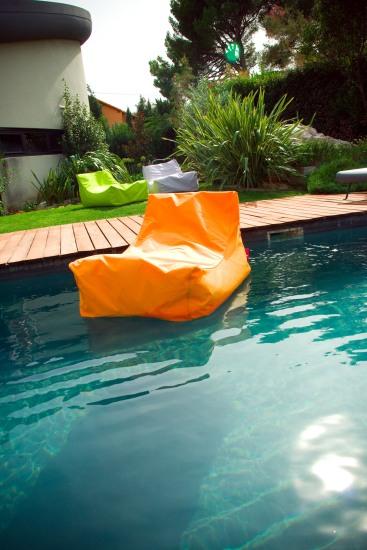 Fauteuil gonflable pour piscine nap de coloris orange - Fauteuil gonflable piscine ...