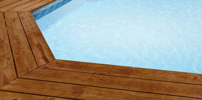 Liner piscine sur mesure blanc avec frise ipanema pour for Frise pour piscine beton