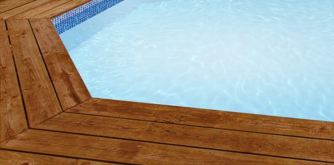 Liner piscine sur mesure blanc avec frise mosa que pour for Liner sur mesure pour bassin