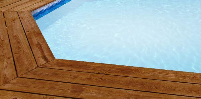 liner piscine blanc et frise olympia bleue