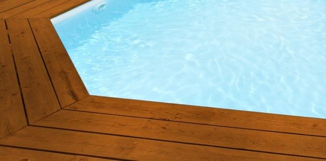 Liner piscine sur mesure blanc pour piscine rectangulaire for Liner piscine blanc