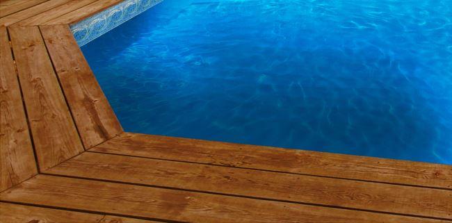 Liner piscine sur mesure bleu fonc avec frise ipanema for Liner sur mesure pour bassin