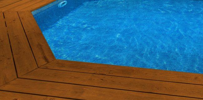 Liner piscine sur mesure mosa que bleu pour piscine bois for Liner sur mesure pour bassin