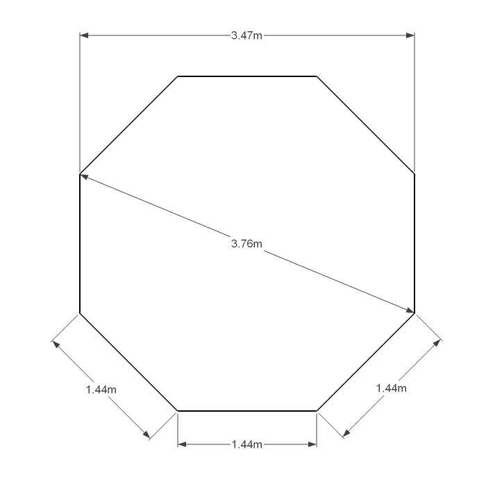 Liner 75 100 bleu fonc pour piscine octogonale x 3 for Piscine acier liner 75 100