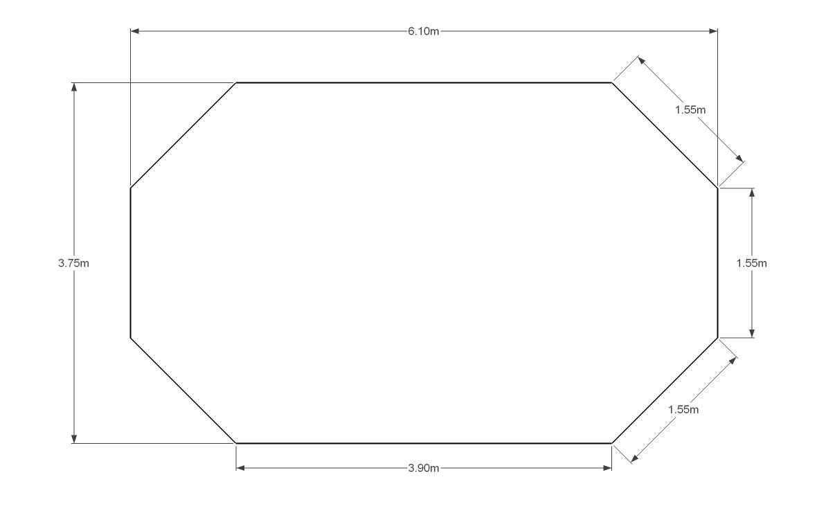 Liner 75 100 bleu fonc pour piscine octogonale allong e for Piscine hors sol acier liner 75 100