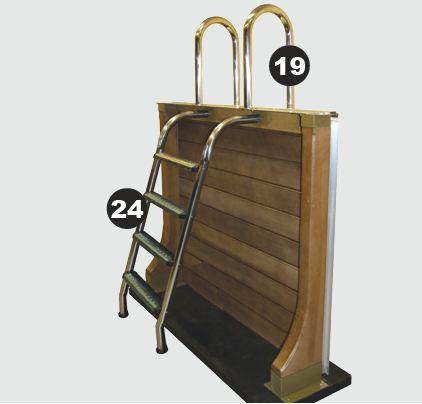 Piscine en b ton naturalis 3 aspect bois d cagonale for Piscine bois escalier interieur
