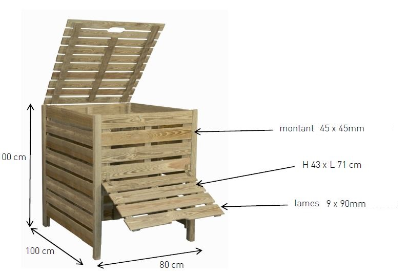 composteur 800 litres chez piscineo. Black Bedroom Furniture Sets. Home Design Ideas