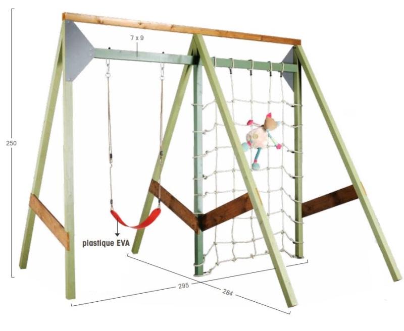portique en bois 1 balan oire portik 2 chez piscineo. Black Bedroom Furniture Sets. Home Design Ideas