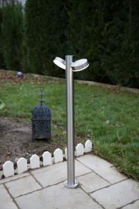 Borne LED orientable alu brossé