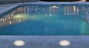Ambiance piscine avec spots encatrables