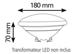 Dimensions ampoule LED par 56