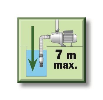 Hauteur aspiration maxi 7m