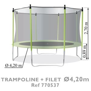 Trampoline diam tre petit prix sur for Trampoline piscine decathlon