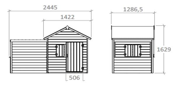 Dimensions maisonnette ALPAGA