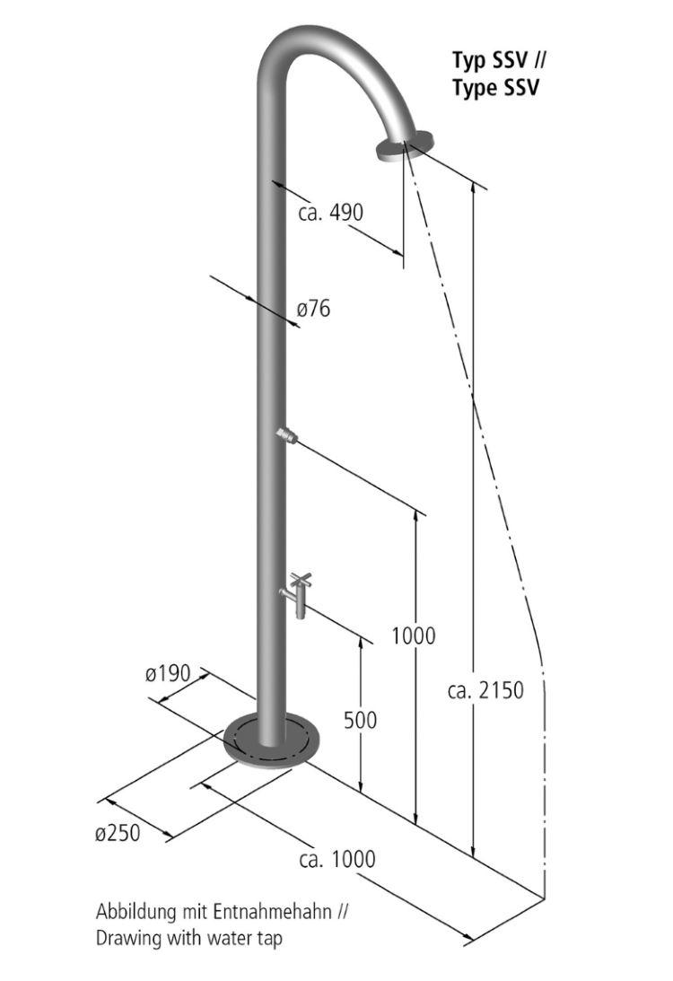 dimensions douche ideal nemo avec rince pieds