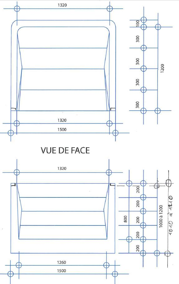 Escalier piscine carr 150 en polyester pour piscine for Dimension piscine