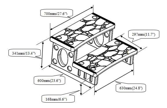 Dimensions escalier pour spa ou petites piscines