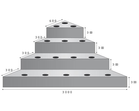 Escalier sous liner angle droit 212 x 212cm en polyester pour piscine - Dimension marche escalier ...