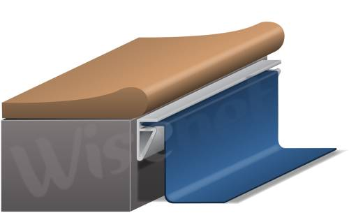 Liner piscine 75 100 bleu clair rectangle 10 x x 1 for Prix liner piscine 10 x 5