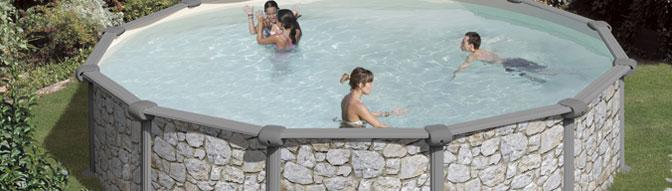 Bannière piscine hors sol GRE Corcega ronde