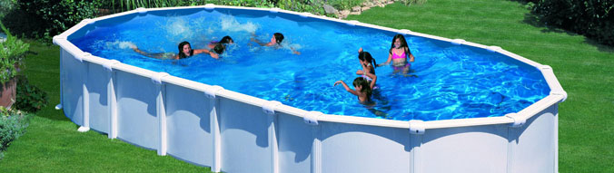 Piscine hors sol acier gre start top x x 1 for Piscine en hauteur