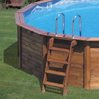Piscine hors sol gre nature pool pas cher sur piscineo - Escalier inox pour piscine ...