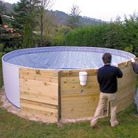 Piscine Hors Sol Gre Nature Pool Diam 3 90m Avec Filtre à Cartouche