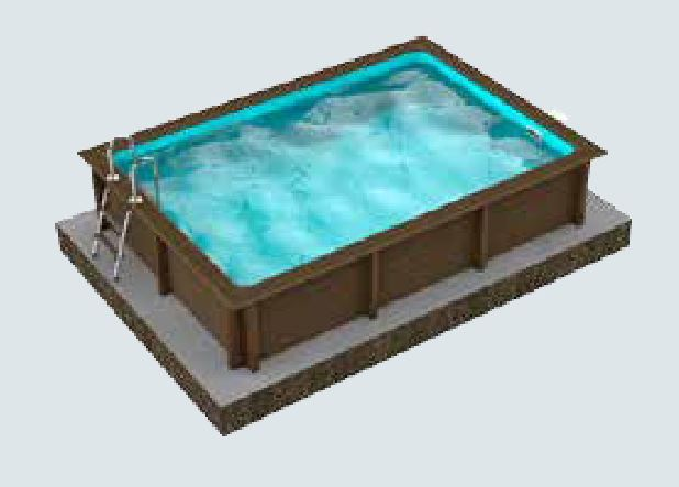Piscine en b ton naturalis aspect bois rectangulaire for Piscine 25m prix